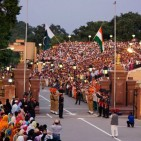 Wagah Border trade and travel crossing  Photo: Kamran Ali via Wikimedia Commons