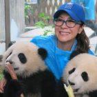 UN Goodwill Ambassador Micelle Yeoh with baby pandas