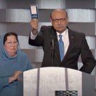 Khizr Khan and his wife Ghazala Khan at DNC July 2016 Photo: Screenshot/Official DNC Youtube