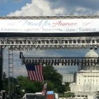 Views and News photo of March for America Rally stage July 23, 2016