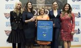 Under-Secretary-General for Communications and Public Information Cristina Gallach (centre), at the designation of Wonder Woman as the Honorary Ambassador for the Empowerment of Women and Girls. UN Photo/Kim Haughton