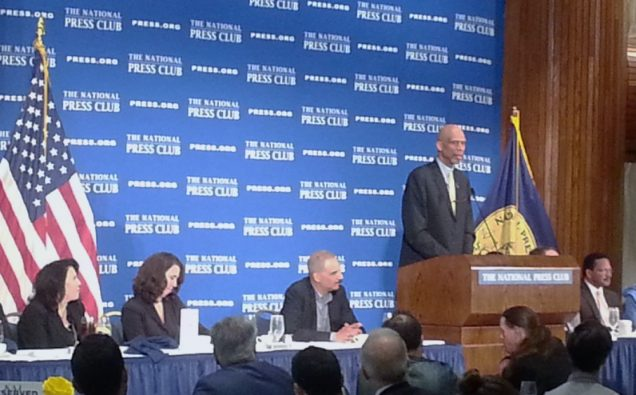Kareem Abdul Jabbar speaking at National Press Club, Washington DC Photo: Views and News