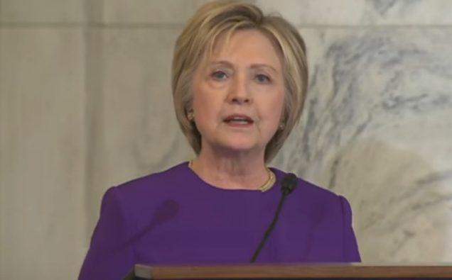 Hillary Clinton speaking on Capitol Hill, Photo : Screenshot/NBC News
