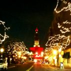 George Washington Masonic National Memorial glitters in holidays glow as seen from Kings Street Old Town Alexandria Photo: Views and News