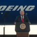 President Donald Trumpo speaking at at the unveiling of the Boeing 787 Dreamliner at the  Boeing Company North Charleston, South Carolina, February 17, 2017 Photo: Screenshot/Official White House Video