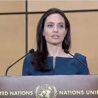 Angelina Jolie speaking in Geneva March 15, 2017 Photo: Screenshot/UNHCR Video