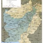 Pakistan-Afghanistan border also called Durrand Line  Photo: Central Intelligence Agency