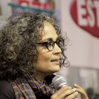 Arundhati Roy ,  Writer of  Man Booker Prize for Fiction winning novel The God of Small Things (1997) visits Guwahati during 14th North East Book Fair By Vikramjit Kakati (Own work) [CC BY-SA 3.0 (http://creativecommons.org/licenses/by-sa/3.0)], via Wikimedia Commons