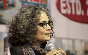 Arundhati Roy ,  Writer of  Man Booker Prize for Fiction winning novel The God of Small Things (1997) visits Guwahati during 14th North East Book Fair