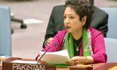 Ambassador Maleeha Lodhi speaking during the UNSC debate, June 21, 2017 Photo: Pakistan Mission/Ambassador Facebook