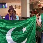 Cricket enthusiasts celebrate at Chatani Restaurant in Springfield, Virginia Photo/Screenshot/Aziz Ahmed Facebook