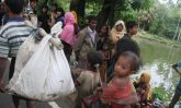 New arrivals in Bangladesh's Ukhiya area right after crossing the border with Myanmar's northern Rakhine state. Photo: UNHCR/Vivian Tan