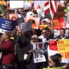 Demonstration against travel ban in Washington D.C. October 18, 2018 Photo: Screenshot/VOA