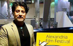 Farhan Alam at Alexandria Film Festival November 13, 2017 Photo: Courtesy Farhan Alam