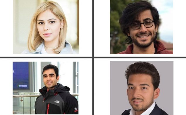 Four Pakistanis included in Forbes' 30 Under 30 list for 2018 Khizer Hayat, Sarah Ahmed, S Zayd Enam and Raza Munir. Photo: Courtesy Forbes magazine