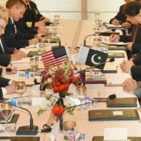 Defense Secretary James Mattis meets with Pakistan PM Shahid Khaqan Abbasi December 4, 2017 Photo: Pakistan PM House Islamabad,